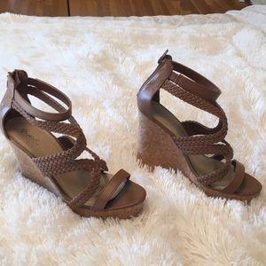 High Cork Wedge Heel Sandal